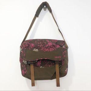 Dakine brown pink floral laptop messenger bag